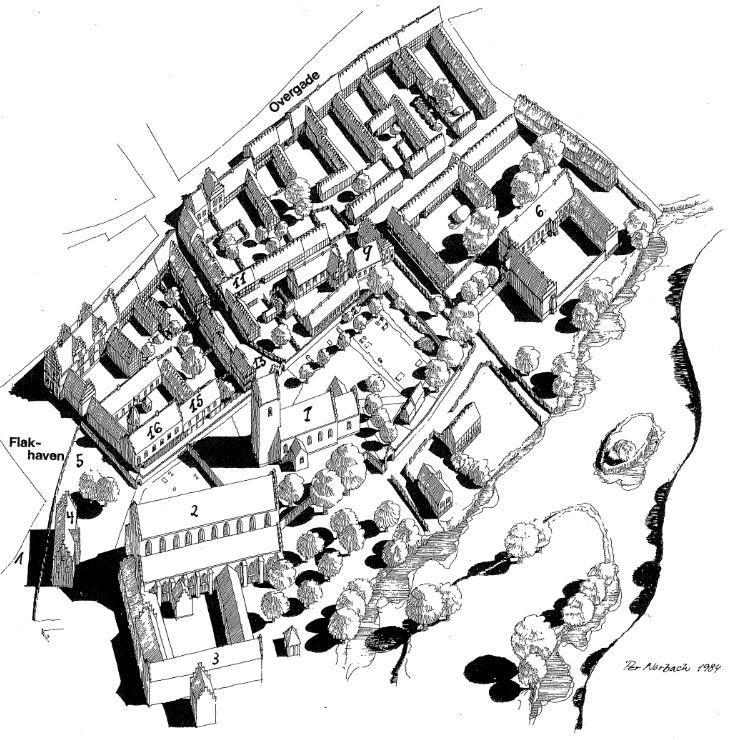 021e2df8 Skt. Alabnis og Skt. Knuds kirkegårde lå side og side, men  forskningsprojektet udsøger, hvorfor brugen af de to kirkegårde var meget  forskellig.